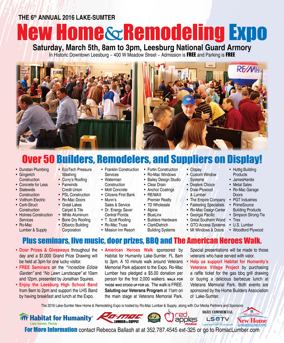 New Home and Remodeling Expo - Ro-Mac Lumber & Supply