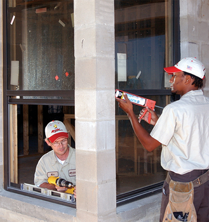 caulk windows